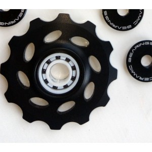 Delrin Black CNC pulley wheels 12T Campagnolo