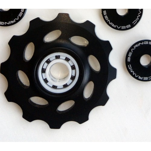 Delrin Black CNC pulley wheels 12T Shimano/sram