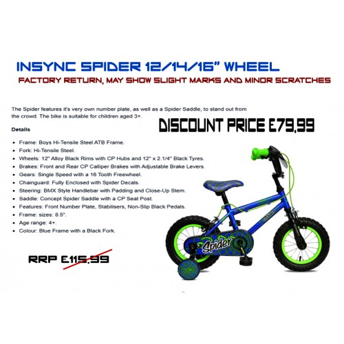"""Concept Spider 12"""" 14"""" and 16"""" wheel - Boys"""
