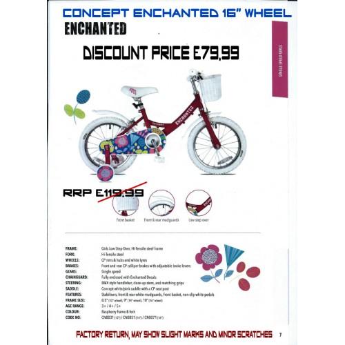 "Concept Enchanted 16"" wheel- Girls"
