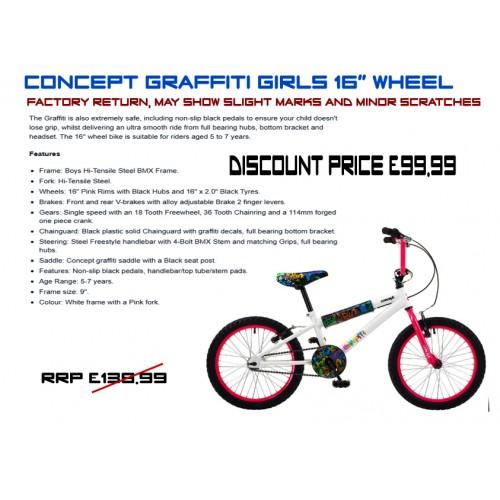 "Concept Graffiti 16"" wheel -Girls"