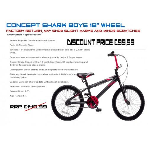 "Concept Shark 18"" wheel -Boys"